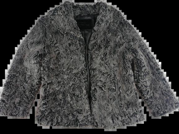 UK M fur coat women's grey 90's
