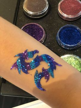 Glitter Tattoo, Dragon