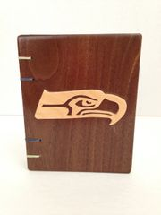 Seahawks Wood-Light on Dark