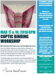 Coptic Binding Workshop March 17 & 18, 2016