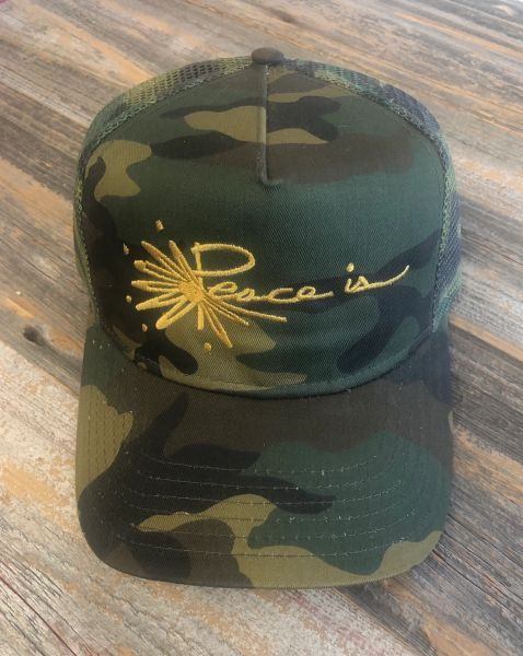 Peace is Logo Camo Cap