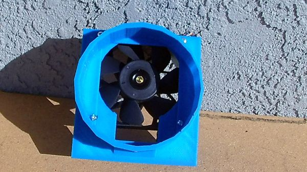 "--Pack of 10-- D319 120mm to 6"" fan shroud with upper chamber for upper exhaust ports"