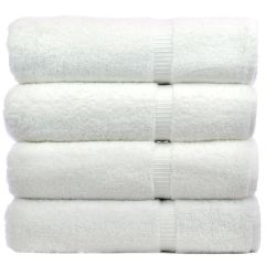 Luxury Hotel & Spa Towel 100% Turkish Cotton Bath Towel - Set of 4 White