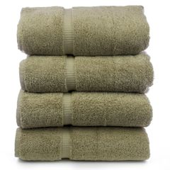 Luxury Hotel & Spa Towel 100% Genuine Turkish Cotton Bath Towels - Drift Wood - Dobby Border - Set of 4