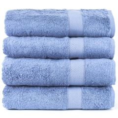 Luxury Hotel & Spa Towel 100% Genuine Turkish Cotton Bath Towels - Wedgewood - Bamboo - Set of 4