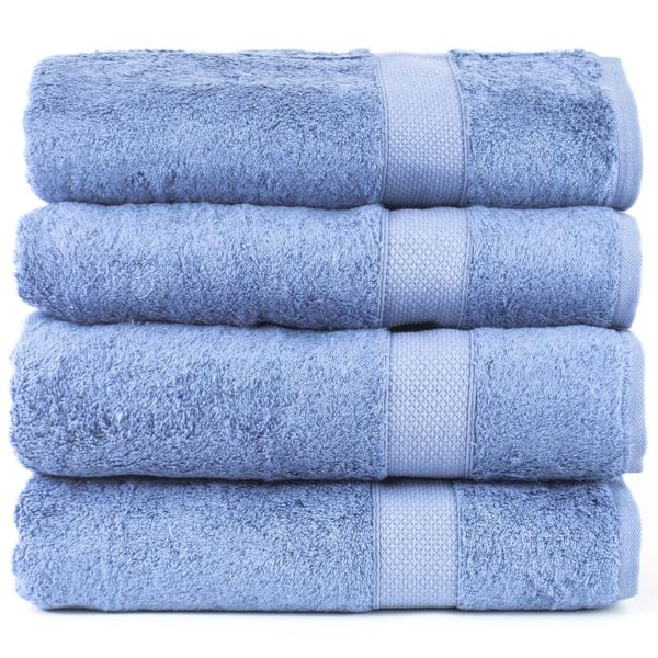 Luxury Hotel Towel 100/% Genuine Turkish Cotton Towel Oversized Bath Sheet 40x80, Wedgewood