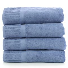Luxury Hotel & Spa Towel 100% Genuine Turkish Cotton Bath Towels - Wedgewood - Piano - Set of 4