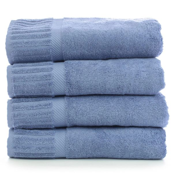 Luxury Hotel & Spa Towel 100% Genuine Turkish Cotton Bath Towels - Wedgewood - Piano - Set of 4