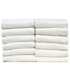 Luxury Hotel & Spa Towel 100% Genuine Turkish Cotton Washcloths - White - Piano - Set of 12