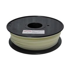 PLA-Glow-GN-3.0-1.0 Gloin the Dark Series 3mm ABS Filament 3D Printing Cables - White (139m)