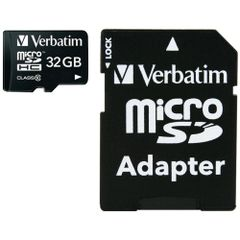 VERBATIM 44083 microSDHC(TM) Card with Adapter (32GB; Class 10)