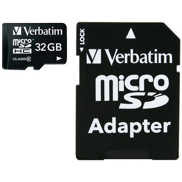 VERBATIM 44083 microSDHC(TM) Card with Adapter (32GB; Class 10)