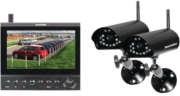 SecurityMan - Digital Wireless Cameras LCD/DVR System