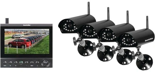 SecurityMan - Complete 2.4 GHz Digital Wireless Camera LCD/DVR System with 4 Wireless Cameras