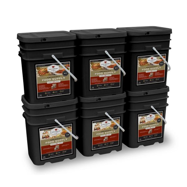 720 Serving Package - 120 lbs - Includes: 3 - 120 Serving Entree Buckets and 3 - 120 Serving Breakfast Buckets