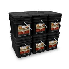 1440 Serving Package - 240 lbs - Includes: 6 - 120 Serving Entree Buckets and 6 - 120 Serving Breakfast Buckets