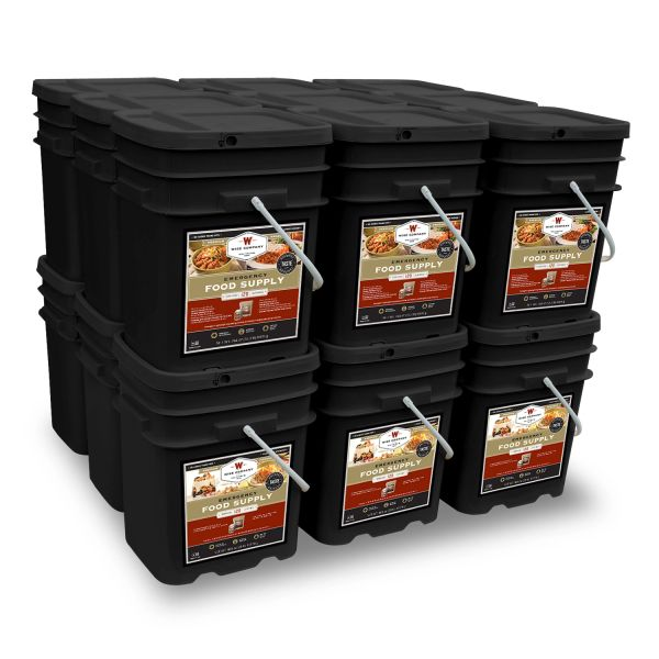 2160 Serving Package - 372 lbs - Includes: 12 - 120 Serving Entree Buckets and 6 - 120 Serving Breakfast Buckets