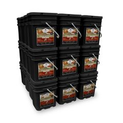 4320 Serving Package - 744 lbs - Includes: 24 - 120 Serving Entree Buckets and 12 - 120 Serving Breakfast Buckets
