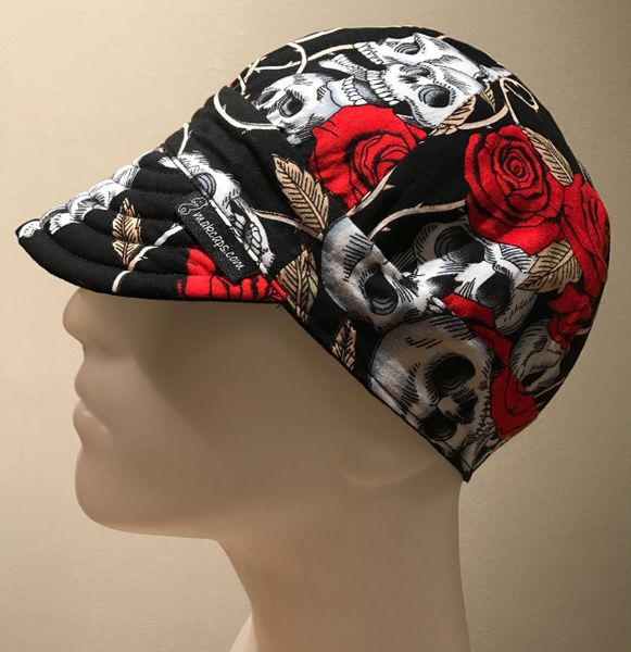 Skulls & Roses on Black
