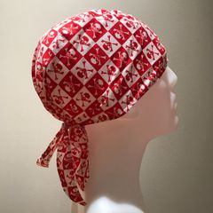 Red Checkered Skulls & Crossbones Do-Rag