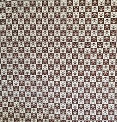 Brown Checkered Skull & Crossbone Bandana