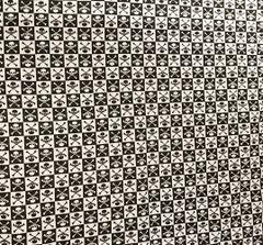 Black Checkered Skull & Crossbone Bandana