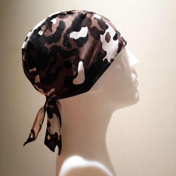 Dark-Brown Camouflage Do-Rag