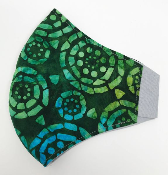 Mosaic Circle Batik (Green)