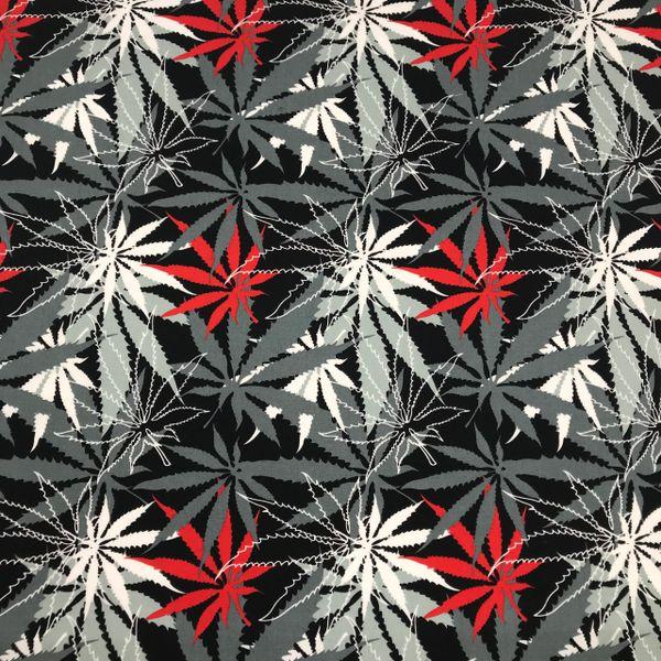Cannabis (Grey+Red) Bandana