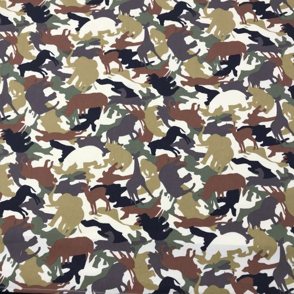 Jungle Animals (Green) Bandana
