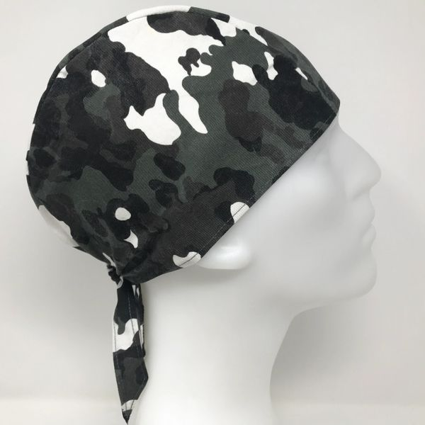 Dark-Green Camouflage Do-Rag