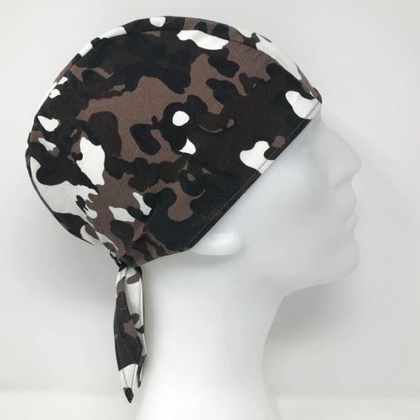 Dark-Brown Camouflage Do-Rag