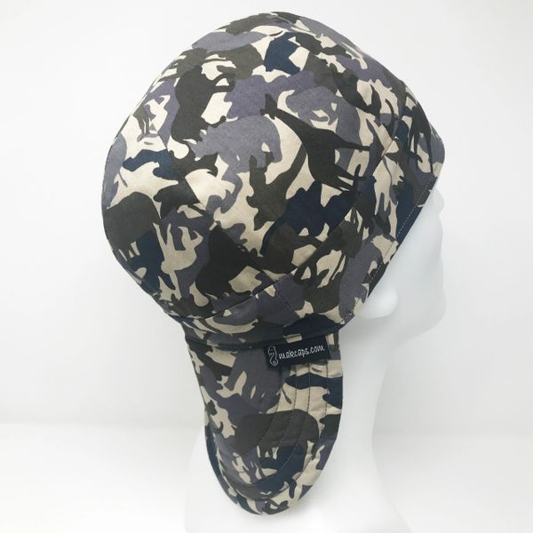 Jungle Animals Camo-Blue (Long Bill-5 inches)