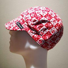 Red Checkered Skulls & Crossbones