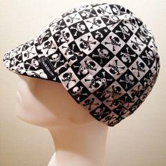 Black Checkered Skulls & Crossbones