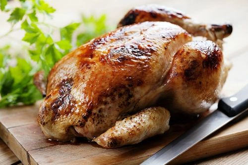 Roasting Chicken with Seasonal Vegetables, Options: 1) Traditional, 2) Moroccan with Preserved Lemon, 3) Panko Breadcrumb Stuffed 4) Sesame Ginger 5) BBQ (Serves 3-4 / Time to Cook: 1-1:15 Hours (none active))