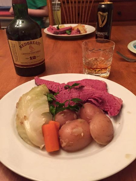 Previous Item: St. Patrick's Day Sous Vide Corned Beef; Choice of 1) and Cabbage or 2) Reuben Sandwiches (Time to Cook: 30 min. / Cook by Day: Monday)