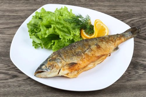 Herb Stuffed Rainbow Trout with Chicory Salad ($14 Per Person / Time to Cook: 30 min. / Cook by Day: Thursday)