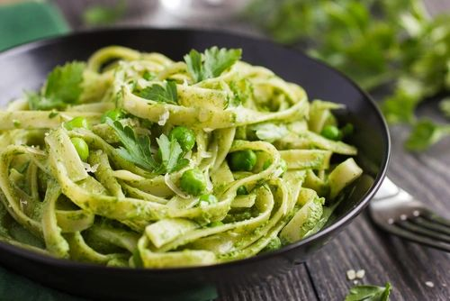 Previous Item: Homemade Tagliatelle with Wild Stinging Nettle Pesto (Basil Pesto Substitute Available)- Add-ons include: Duck Egg, Pancetta, Chicken Breast (Time to Cook: 20 min.)