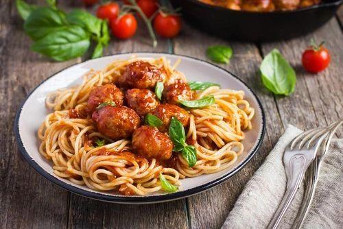 Previous Item: Fresh Pasta: choice of 1) Mozzarella-Stuffed Meatballs, 2) Shrimp Scampi 3) Carbonara, 4) Alfredo, or 5) Aglio Et Olio - (Time to Cook: 30 min. / Cook By day: Monday)