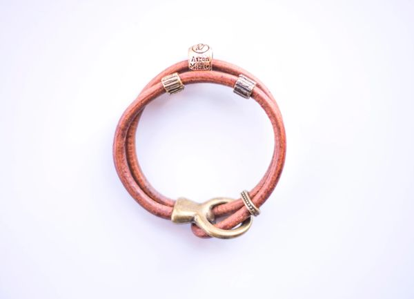 Taking Flight Bracelet (light leather)