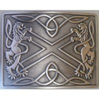 Antique Silver Saltire Highland Buckle