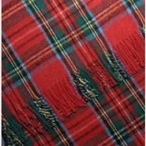 Wool Blend Tartan Blanket
