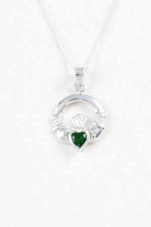 Claddagh Pendant with Stone