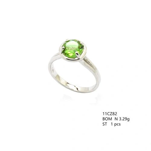 925 SILVER SULTNITE COLOR CHANGEABLE SOLIDER RING, 11CZ82-204