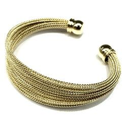 SSB50168 STAINLESS STEEL MASH CABLE CUFF BRACELETS