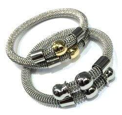 SSB50170 STAINLESS STEEL CABLE BALL BANGLES