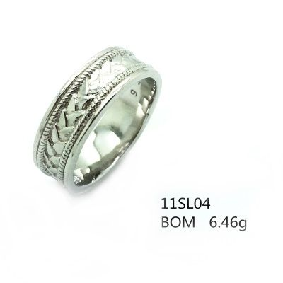 925 ST, SILVER FANCY ROPE BAND RING , MEN WEDDING RING,11SL04-RH