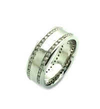 925 STERLING SILVER MEN CZ ETERNITY WEDDING BAND RING-33CZ153-CZ
