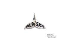 925 STERLING SILVER #ALASKA WHALE TAIL PLAIN SILVER PENDANT- 33224